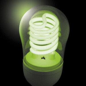 JEFCOM(ジェフコム電材・照明機器) 冷陰極スパイラル球(高速点滅使用対応) 5W グリーン PCF05-E26-G