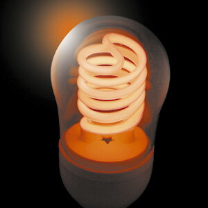 JEFCOM(ジェフコム電材・照明機器) 冷陰極スパイラル球(高速点滅使用対応) 5W レッド PCF05-E26-R