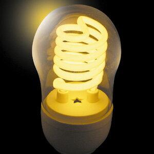 JEFCOM(ジェフコム電材・照明機器) 冷陰極スパイラル球(高速点滅使用対応) 5W イエロー PCF05-E26-Y