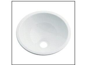 KAKUDAI カクダイ 鉄穴(かんな) 493-026-W 丸型手洗器(ホワイト)