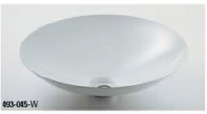 KAKUDAI カクダイ 鉄穴(かんな) 493-045-W 丸型洗面器(ホワイト)