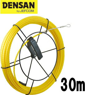 DENSAN(デンサン/ジェフコム) 太径呼線リール付セット SYX-6530-RL 【リール+ウルトライエローエース30m】