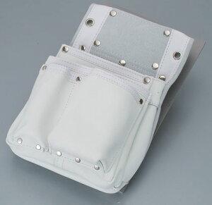 【伝統のKOZUCHI】コヅチ 釘袋2段マチ付白 SH-501
