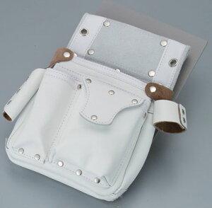 【伝統のKOZUCHI】コヅチ 釘袋ポケットフタ付サイド差付 白 SH-503