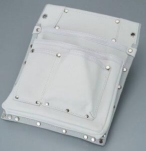 【伝統のKOZUCHI】コヅチ 鋲止仮枠釘袋2段マチ付 白 SH-522