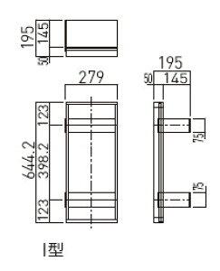 神栄ホームクリエイト(旧新協和) 消火器ボックス下地金物 I型