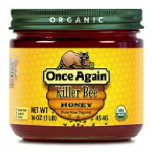 アリサンブラジル産 オーガニック蜂蜜 454gワンスアゲイン社 killer Bee (百花蜜・はちみつ)  (スローカロリー甘味料)