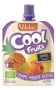Vitabio 有機クールフルーツ(アップル・マンゴー・パイナップル)/90g【ミトク】