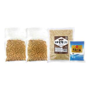 オーサワの手づくり玄米味噌セット(樽なし大容量タイプ)/1セット(煮大豆・麹・塩)