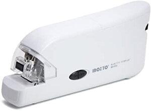 INOZTO ホッチキス 電動 20枚とじ フラットクリンチ ホワイト BO-F10-WH (沖縄・離島は発送不可)