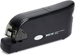 INOZTO ホッチキス 電動 20枚とじ フラットクリンチ ブラック BO-F10-BK (沖縄・離島は発送不可)