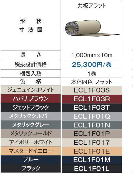 *チューオー サイディング CS型 センタースパンU共板フラット 1000mmx10M 1巻