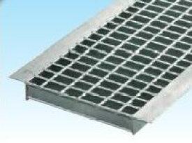 グレーチングU字側溝400mm用 形式記号 WU-X40-519 融亜鉛メッキ製 普通目(並目)適応荷重 歩道用