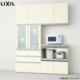 食器棚 キッチン収納 リクシル/LIXIL システムキッチン シエラ 収納ユニット 壁付型 カップボード+ハイフロアプラン スライドストッカー+家電収納(蒸気排出用) S4004 間口幅180/150cm W1800/1500mm グループ2 kenzai