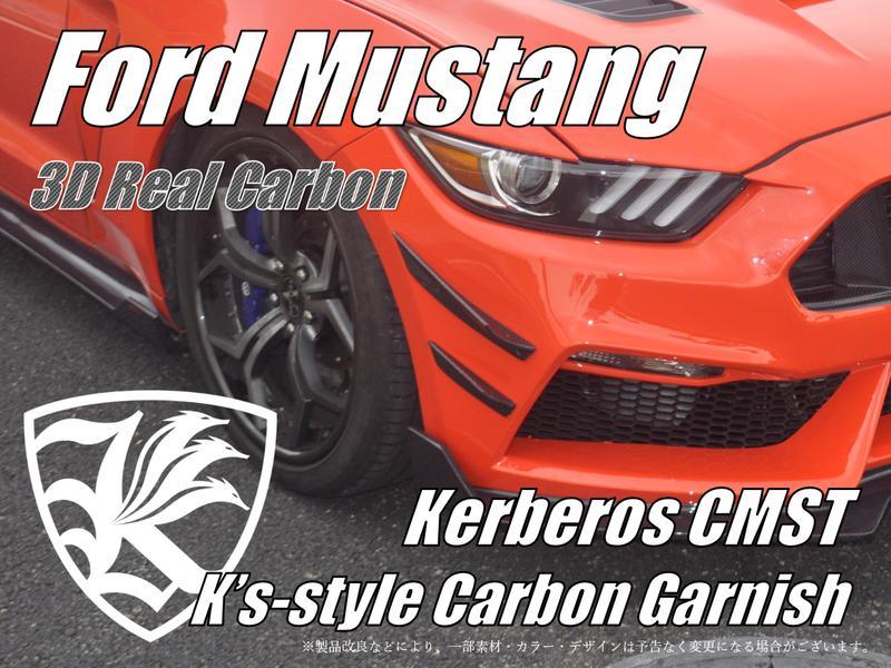 Ford マスタング Kerberos K'sスタイル K'sエアロ専用 3D Real Carbon カーボンフロントバンパーガーニッシュ 【AK-6-038】
