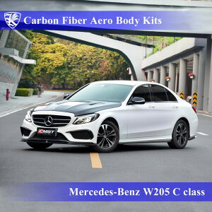 Mercedes-Benz W205 C200 スポーツエディション Kerberos K'sスタイル 3D Real Carbon カーボンファイバーボディキット 9点キット