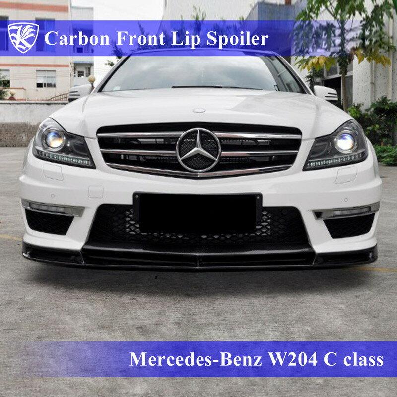 Mercedes-Benz W204 Cクラス 後期 Kerberos K'sスタイル K'sエアロ専用 3D Real Carbon カーボンフロントリップスポイラー Aタイプ 【AK-2-048】