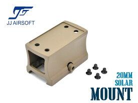 JJ AIRSOFT ライザーマウント for ソーラー レッドドットサイト TAN★東京マルイ M4A1 ダットサイト 光学機器