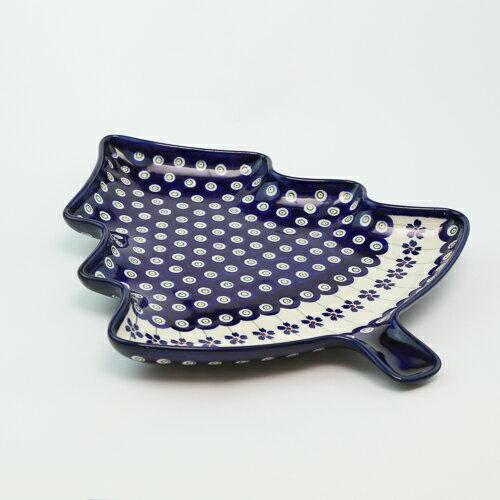 ツリープレート[Z1759-166A]【ポーリッシュポタリー[ポーランド食器・陶器]】