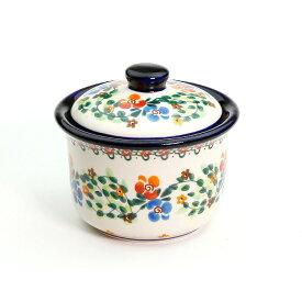 シュガーポット[M0203-B1]【ポーリッシュポタリー[ポーランド食器・陶器]】