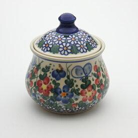 シュガーポット[V014-A001]【ポーリッシュポタリー[ポーランド食器・陶器]】