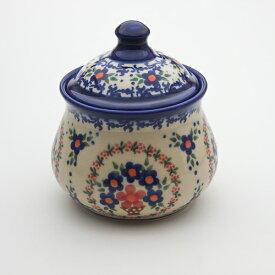 シュガーポット[V014-A063]【ポーリッシュポタリー[ポーランド食器・陶器]】