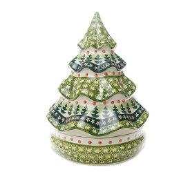 クリスマスキャンディーボックス[W851-123]【ポーリッシュポタリー[ポーランド食器・陶器]】