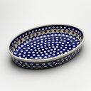 オーブン皿(グラタン皿)・オーバル・大[Z349-41]【ポーリッシュポタリー[ポーランド食器・陶器]】