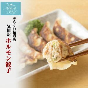 気仙沼ホルモン餃子 【からくわ】 (8個×2パック) 豚ホルモン 赤 白 モツ 焼き肉 鍋 レシピ 作り方 お取り寄せ キャッシュレス還元