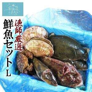 漁師さんの鮮魚セットL (4〜5kg目安) FishMarket38 カレイ アイナメ ホタテ アナゴ サンマ など*季節により魚種が異なります。秋刀魚 さんま