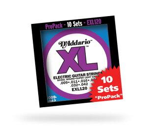 D'Addario EXL120-10P S.Light 009-042 XL Nickel Round Wound 【10セットパック】