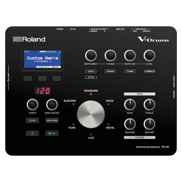【お買い物マラソン開催中 ポイント10倍 〜4/20 23:59まで】電子ドラム ローランド Roland V-Drums Drum Sound Module TD-25 Version 1.10【送料無料(離島を除く)】