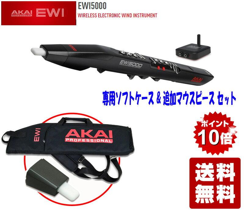 【ポイント10倍】AKAI professional EWI5000 専用ソフトケース&追加マウスピースセット【送料無料】