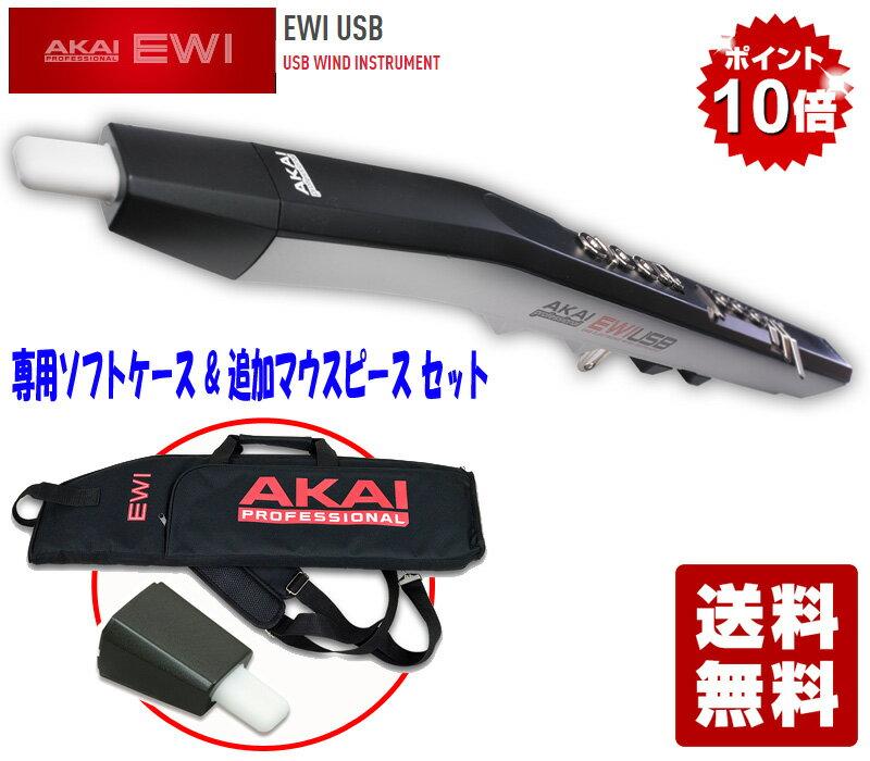 【ポイント10倍】AKAI professional EWI USB - USB WIND INSTRUMENT (EWI-USB) EWI-016 専用ソフトケース&追加マウスピースセット【送料無料】
