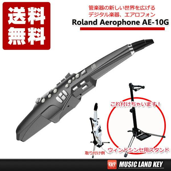 ローランド Roland Aerophone AE-10G GRAPHITE BLACK エアロフォン【今ならウィンドシンセ用スタンド(WSS-100)プレゼント】【送料無料】