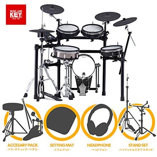 電子ドラム ローランド Roland TD-25KVX w/KD-120BK + MDS-9SC フルオプションセット 【ペダル・マット・イス・スティック・ヘッドホン・ハイハットスタンド・スネアスタンド付き】【送料無料】