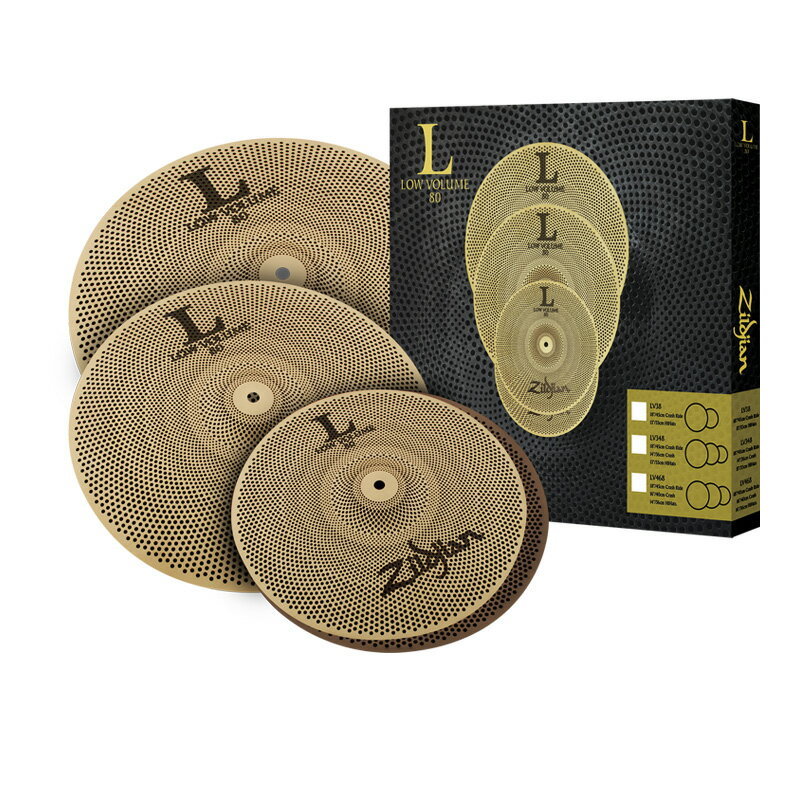 Zildjian ジルジャン シンバル L80 Low Volume Cymbal Set LV468 【送料無料】