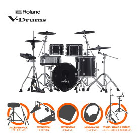 Roland V-Drums Acoustic Design Series VAD506 + KD-200-MS ツインフルオプションセット【送料無料】