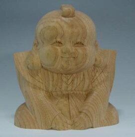 木彫り・・・福助(欅)