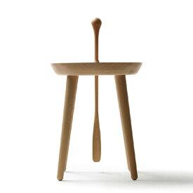日進木工 ステップステップ 材質:ウォールナット 靴べら付きスツール / nissin Stepstep / 玄関 スツール ダンディズム /