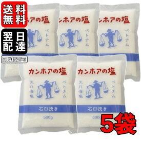 カンホアの塩 500g 5袋 石臼挽き お塩 カンホア 塩 天日塩 ベトナムの塩 ミネラル 天日 天然塩 送料無料