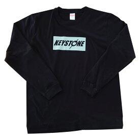 【限定生産釣りフェスカラー】keystone ロンT ブラック×グレー
