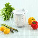 KEYUCA(ケユカ) スリム サラダスピナー[サラダスピナー 水切り器 野菜 水切り スピナー 目盛 分解 キッチン用品 おし…