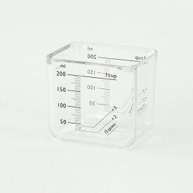 KEYUCA(ケユカ) monolim 計量カップ[計量カップ 角型 コンパクト 透明 おしゃれ オシャレ モダン シンプル デザイン 新生活 ギフト プレゼント 通販 楽天] 【RCP】