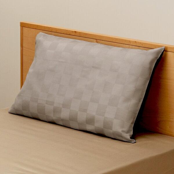 【特別価格】KEYUCA(ケユカ) イチマツグレー 枕カバー 43×63〜75cm 【RCP】