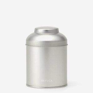 【KEYUCA公式店】ケユカ [日本製] 紅茶缶 100g[キャニスター缶 かわいい 保存容器 紅茶 シルバー スチール 小さいサイズ キッチン雑貨 収納 密閉 中蓋付き 中フタ付き シンプル 通販] 【グッドプ