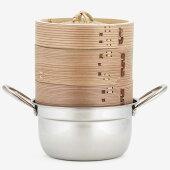 杉せいろ2段ステンレス鍋セット