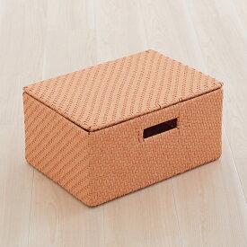 KEYUCA ケユカ Labone ボックス S 蓋セット【送料込】|樹脂織り ラタン調 フタつき カゴ 新居 脱衣所 ランドリー 収納 樹脂 おしゃれ