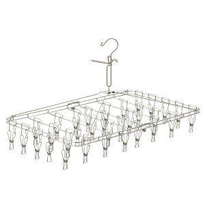 KEYUCA(ケユカ) AST ステンレスピンチハンガー 32個付き[ピンチハンガー ステンレス おしゃれ 小物干し 洗濯物干し 洗濯ばさみ からみにくい 錆びにくい オシャレ シンプル デザイン 引越し祝い