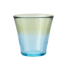 【KEYUCA公式店】ケユカ にほんの色 グラス S 白藍 [日本製 国産 コップ ハンドメイド 手作り 津軽びいどろ グラス シンプル かわいい おしゃれ ガラス ビードロ デザイン グリーン 通販 楽天]